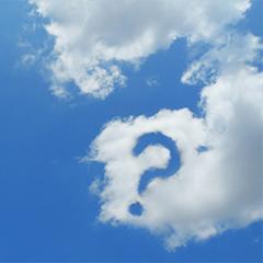 はてなの形の雲